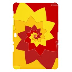 Flower Blossom Spiral Design  Red Yellow Samsung Galaxy Tab 10.1  P7500 Hardshell Case