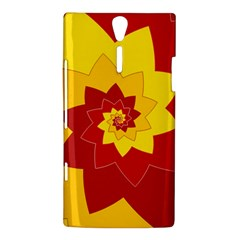 Flower Blossom Spiral Design  Red Yellow Sony Xperia S