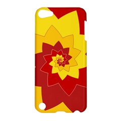 Flower Blossom Spiral Design  Red Yellow Apple iPod Touch 5 Hardshell Case