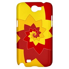 Flower Blossom Spiral Design  Red Yellow Samsung Galaxy Note 2 Hardshell Case