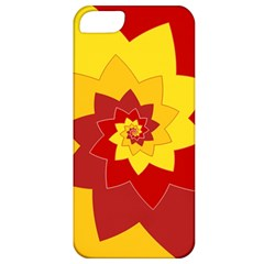 Flower Blossom Spiral Design  Red Yellow Apple Iphone 5 Classic Hardshell Case