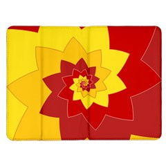 Flower Blossom Spiral Design  Red Yellow Kindle Fire (1st Gen) Flip Case