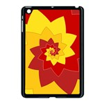 Flower Blossom Spiral Design  Red Yellow Apple iPad Mini Case (Black) Front