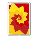 Flower Blossom Spiral Design  Red Yellow Apple iPad Mini Case (White) Front