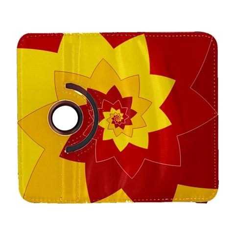 Flower Blossom Spiral Design  Red Yellow Samsung Galaxy S  III Flip 360 Case