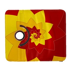 Flower Blossom Spiral Design  Red Yellow Samsung Galaxy S  III Flip 360 Case