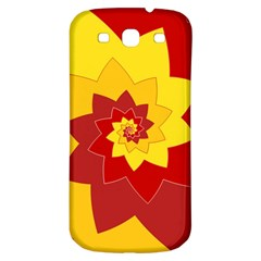 Flower Blossom Spiral Design  Red Yellow Samsung Galaxy S3 S III Classic Hardshell Back Case
