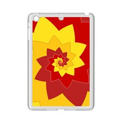 Flower Blossom Spiral Design  Red Yellow iPad Mini 2 Enamel Coated Cases