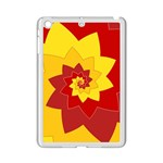 Flower Blossom Spiral Design  Red Yellow iPad Mini 2 Enamel Coated Cases Front