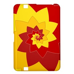Flower Blossom Spiral Design  Red Yellow Kindle Fire Hd 8 9