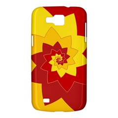Flower Blossom Spiral Design  Red Yellow Samsung Galaxy Premier I9260 Hardshell Case