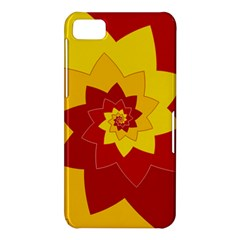 Flower Blossom Spiral Design  Red Yellow BlackBerry Z10
