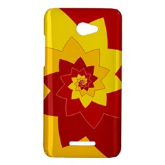 Flower Blossom Spiral Design  Red Yellow HTC Butterfly X920E Hardshell Case