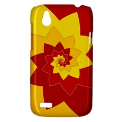 Flower Blossom Spiral Design  Red Yellow HTC Desire V (T328W) Hardshell Case