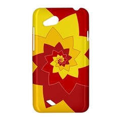 Flower Blossom Spiral Design  Red Yellow HTC Desire VC (T328D) Hardshell Case