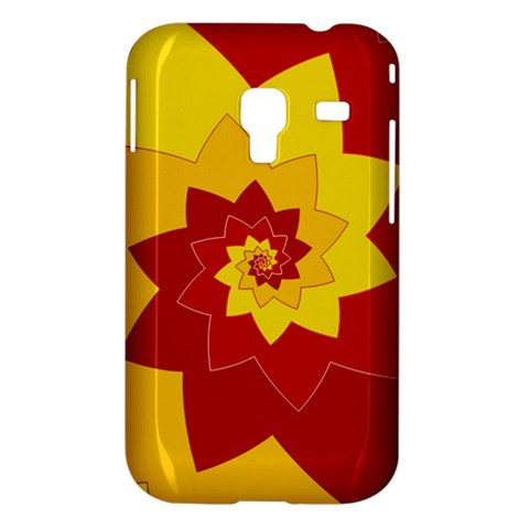 Flower Blossom Spiral Design  Red Yellow Samsung Galaxy Ace Plus S7500 Hardshell Case
