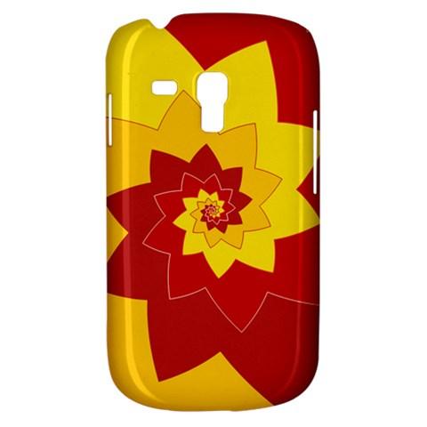 Flower Blossom Spiral Design  Red Yellow Samsung Galaxy S3 MINI I8190 Hardshell Case