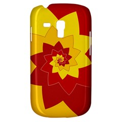 Flower Blossom Spiral Design  Red Yellow Samsung Galaxy S3 Mini I8190 Hardshell Case