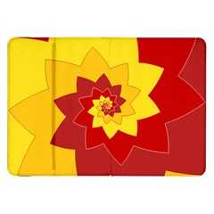 Flower Blossom Spiral Design  Red Yellow Samsung Galaxy Tab 8.9  P7300 Flip Case