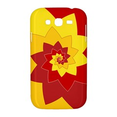 Flower Blossom Spiral Design  Red Yellow Samsung Galaxy Grand DUOS I9082 Hardshell Case