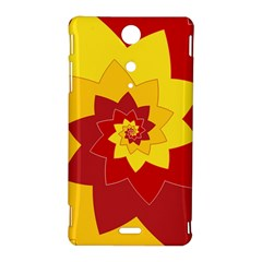Flower Blossom Spiral Design  Red Yellow Sony Xperia TX