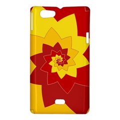 Flower Blossom Spiral Design  Red Yellow Sony Xperia Miro
