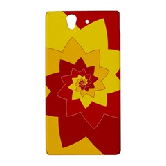 Flower Blossom Spiral Design  Red Yellow Sony Xperia Z