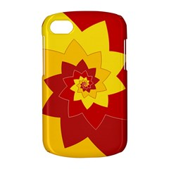 Flower Blossom Spiral Design  Red Yellow BlackBerry Q10