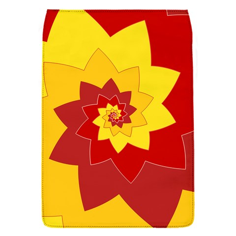 Flower Blossom Spiral Design  Red Yellow Flap Covers (S)