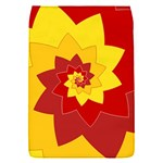 Flower Blossom Spiral Design  Red Yellow Flap Covers (S)  Front