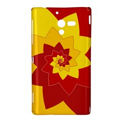 Flower Blossom Spiral Design  Red Yellow Sony Xperia ZL (L35H)