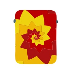 Flower Blossom Spiral Design  Red Yellow Apple iPad 2/3/4 Protective Soft Cases