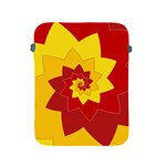 Flower Blossom Spiral Design  Red Yellow Apple iPad 2/3/4 Protective Soft Cases Front