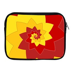 Flower Blossom Spiral Design  Red Yellow Apple Ipad 2/3/4 Zipper Cases