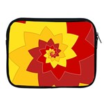 Flower Blossom Spiral Design  Red Yellow Apple iPad 2/3/4 Zipper Cases Front