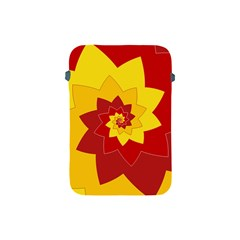 Flower Blossom Spiral Design  Red Yellow Apple Ipad Mini Protective Soft Cases