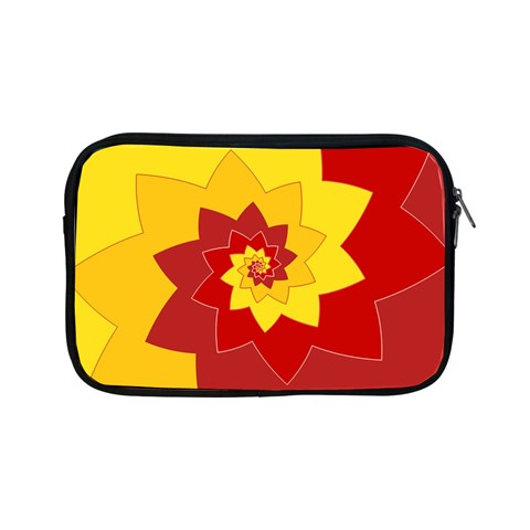 Flower Blossom Spiral Design  Red Yellow Apple iPad Mini Zipper Cases