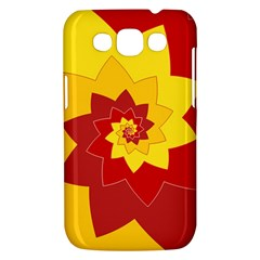 Flower Blossom Spiral Design  Red Yellow Samsung Galaxy Win I8550 Hardshell Case