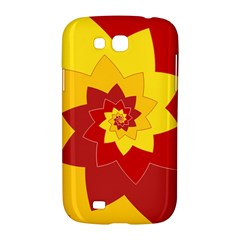 Flower Blossom Spiral Design  Red Yellow Samsung Galaxy Grand GT-I9128 Hardshell Case