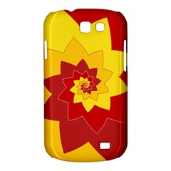 Flower Blossom Spiral Design  Red Yellow Samsung Galaxy Express I8730 Hardshell Case