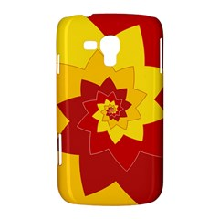 Flower Blossom Spiral Design  Red Yellow Samsung Galaxy Duos I8262 Hardshell Case