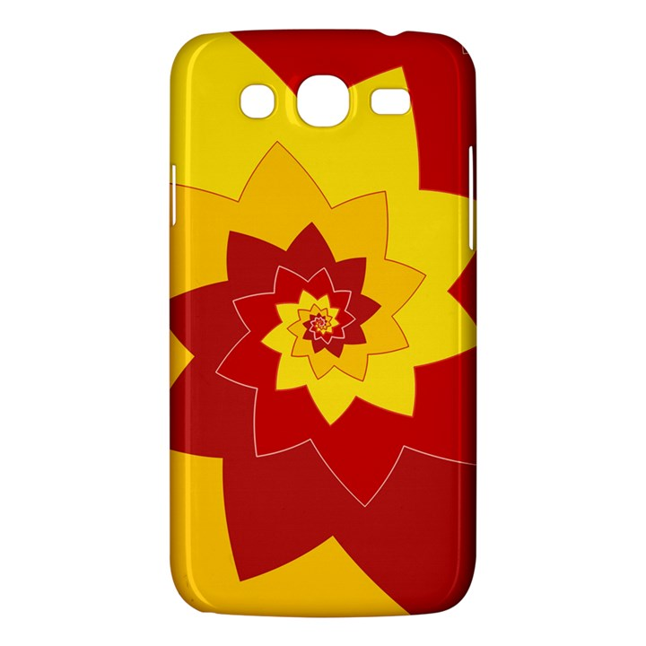 Flower Blossom Spiral Design  Red Yellow Samsung Galaxy Mega 5.8 I9152 Hardshell Case
