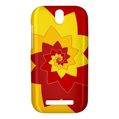 Flower Blossom Spiral Design  Red Yellow HTC One SV Hardshell Case