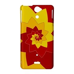Flower Blossom Spiral Design  Red Yellow Sony Xperia V
