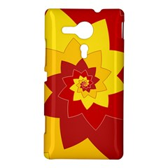 Flower Blossom Spiral Design  Red Yellow Sony Xperia SP