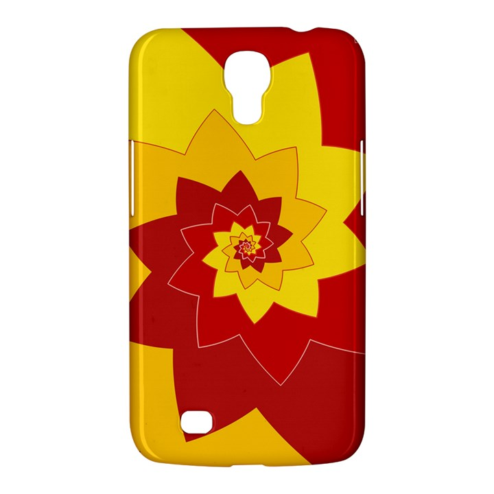Flower Blossom Spiral Design  Red Yellow Samsung Galaxy Mega 6.3  I9200 Hardshell Case