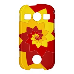 Flower Blossom Spiral Design  Red Yellow Samsung Galaxy S7710 Xcover 2 Hardshell Case