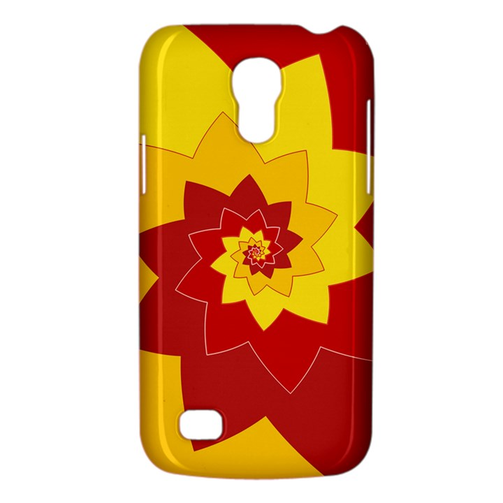 Flower Blossom Spiral Design  Red Yellow Galaxy S4 Mini