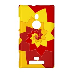 Flower Blossom Spiral Design  Red Yellow Nokia Lumia 925