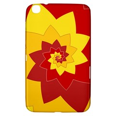 Flower Blossom Spiral Design  Red Yellow Samsung Galaxy Tab 3 (8 ) T3100 Hardshell Case